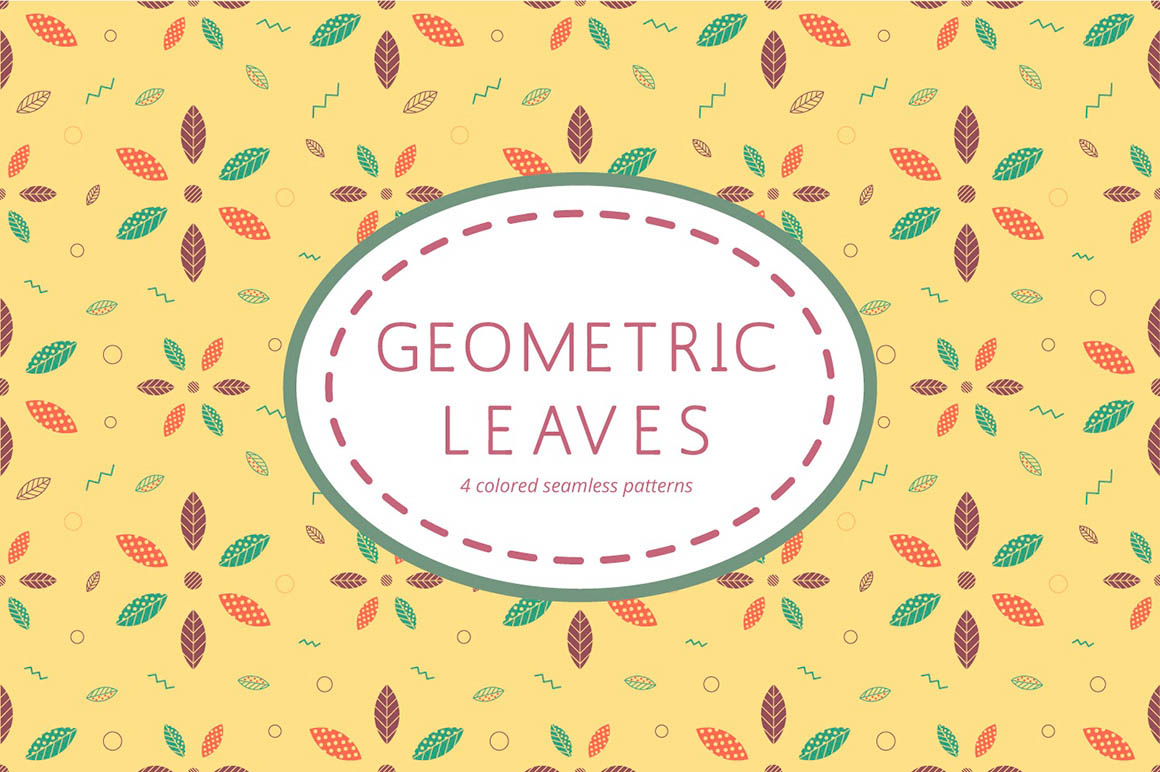 Geometric Leaves Pattern