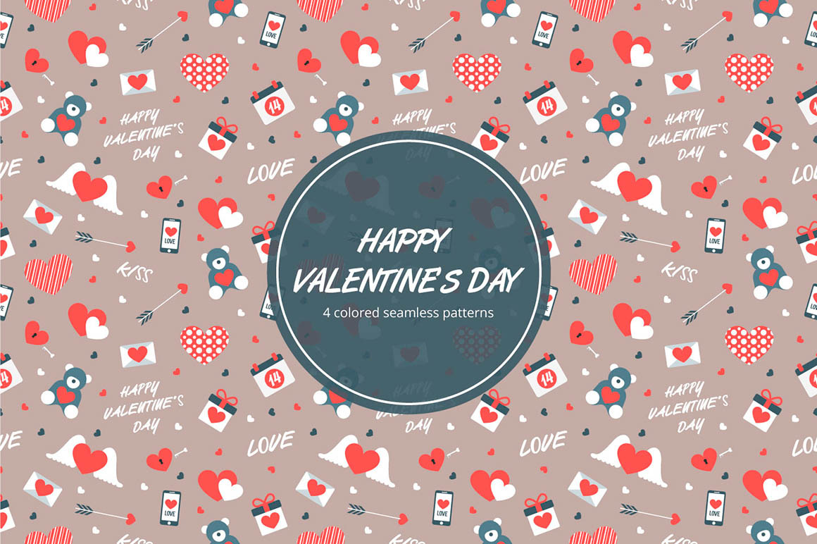 Happy Valentines Day Pattern