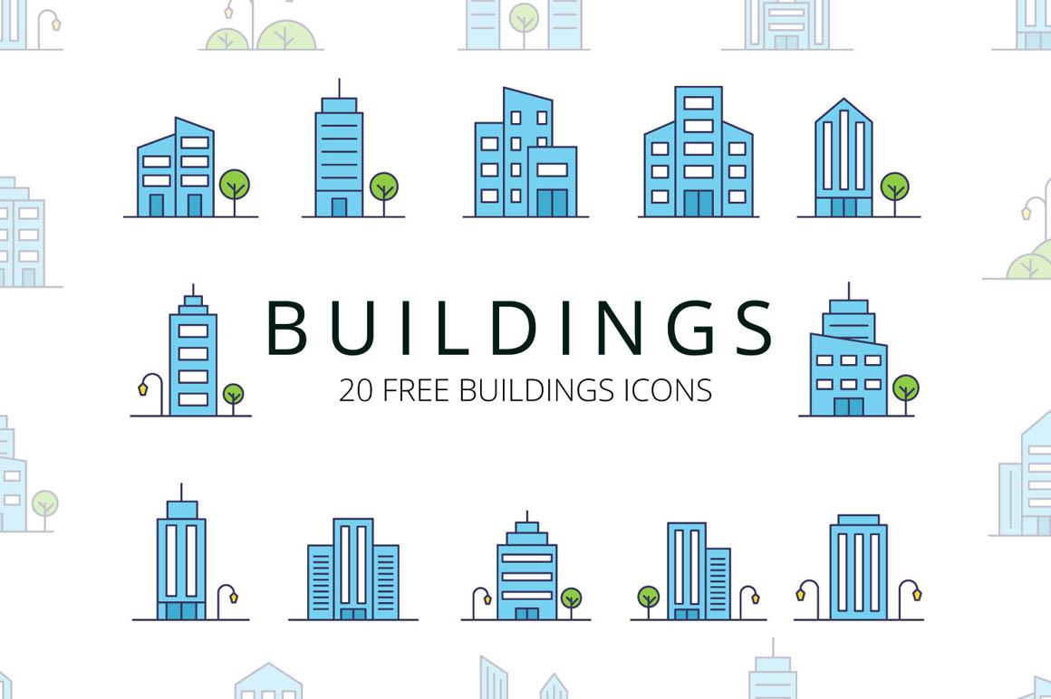Buildings Vector Free Icon Set