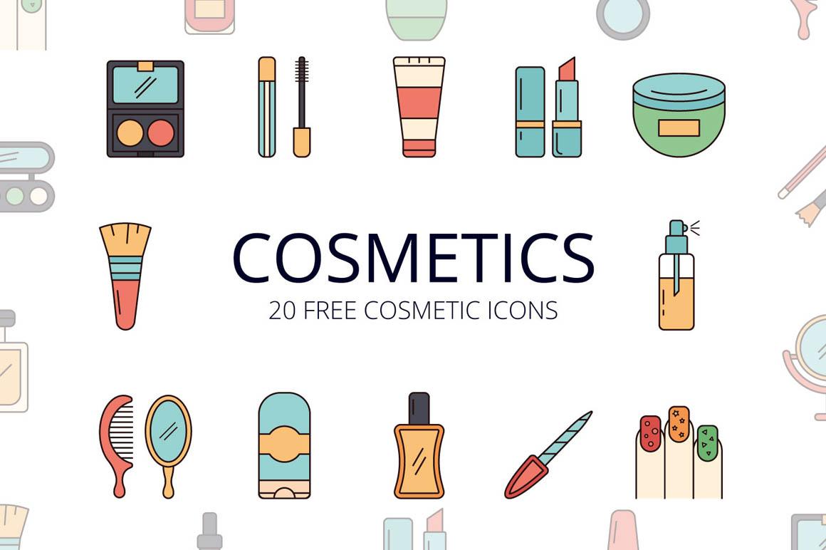 Cosmetics Vector Free Icon Set
