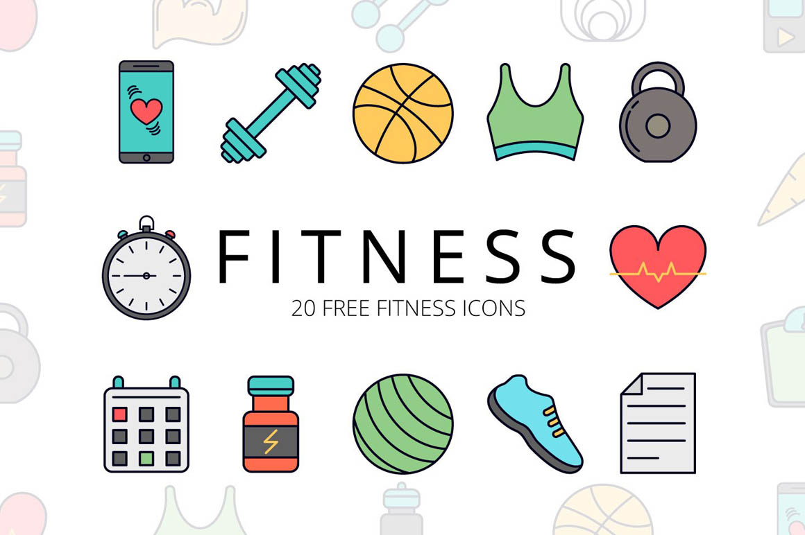 Fitness Vector Free Icon Set
