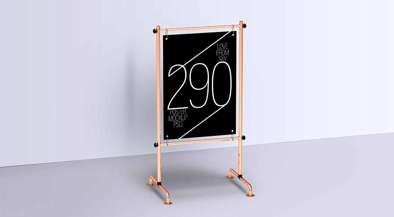 Display Stand Poster Mockup PSDs