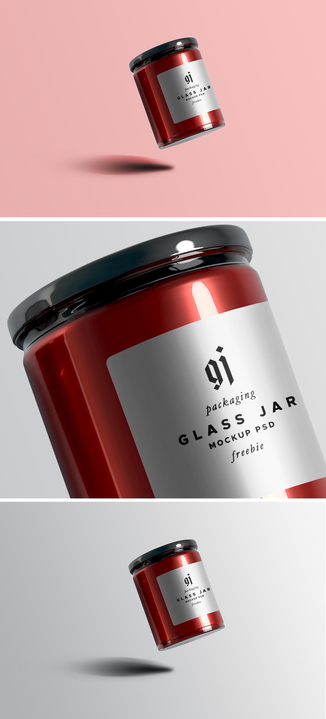 Glass Jar PSD Mockup