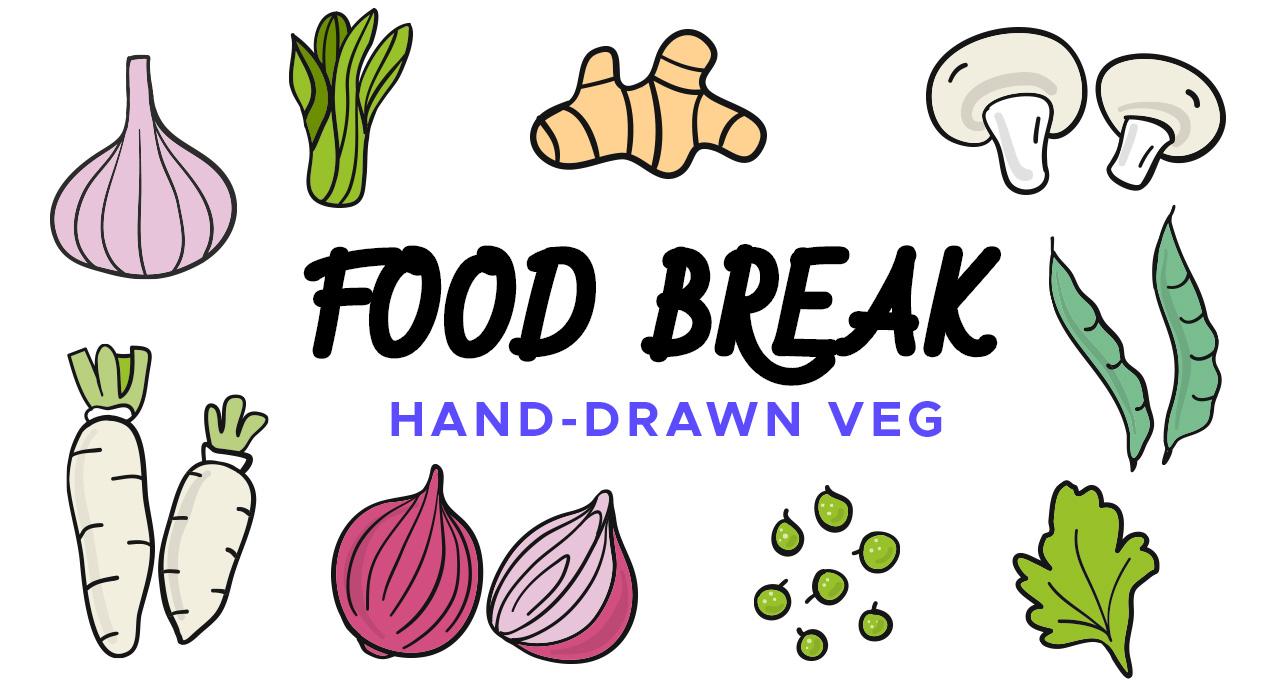 Food Break: Vegetable Vector Icons