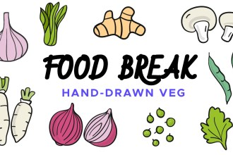 Food Break: Hand-drawn Vegetable Vector Icons