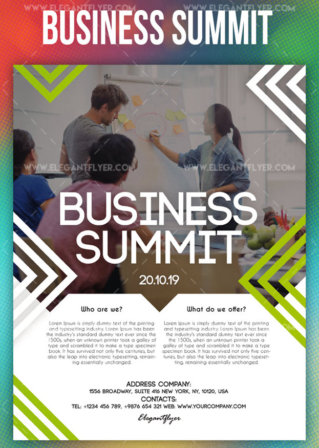 Business Summit – Free PSD Flyer Template