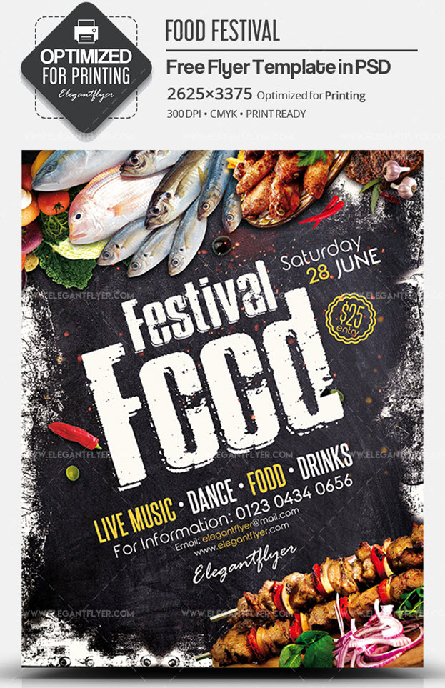 Food Festival – Free PSD Flyer Template