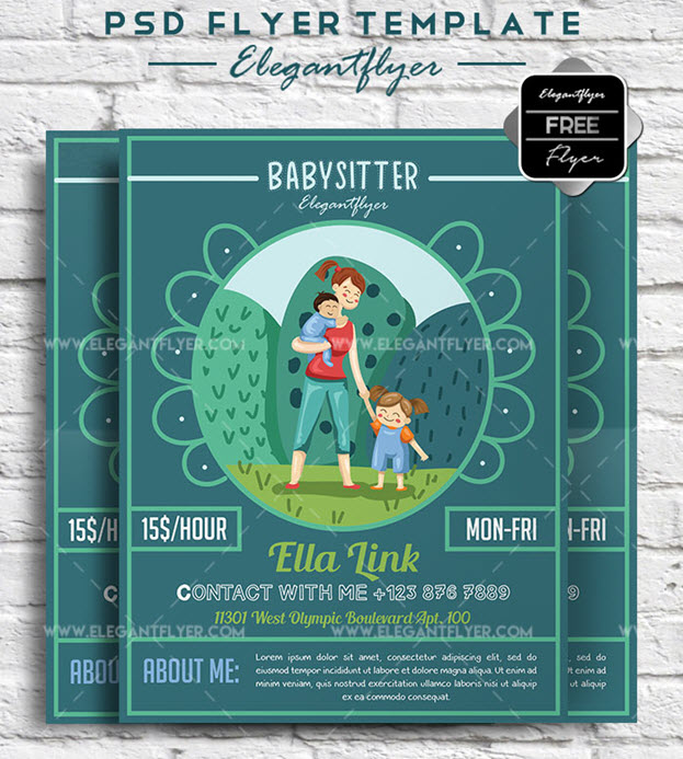 Babysitter – Free Flyer PSD Template