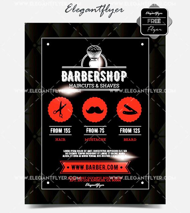 Barbershop – Flyer PSD Template