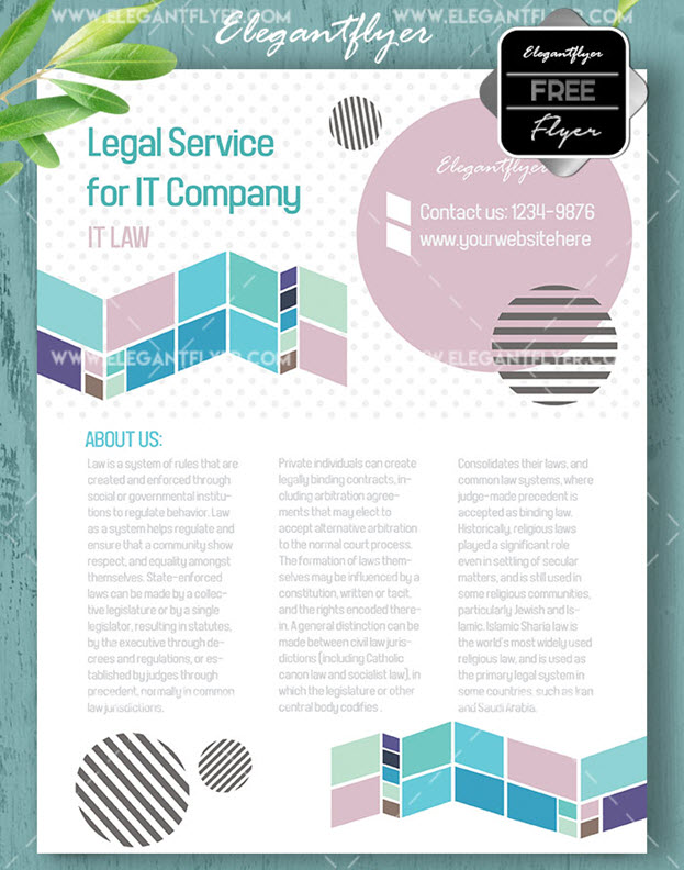 Legal Service – Free Flyer PSD Template