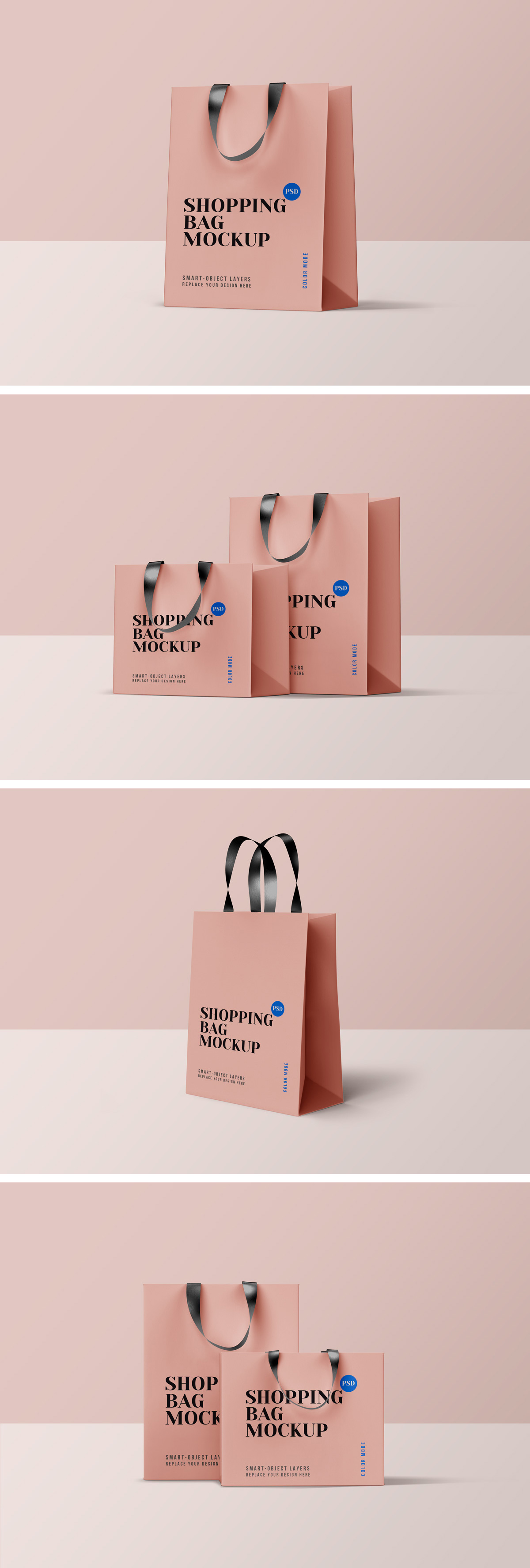 Shopping Bag PSD Mockups
