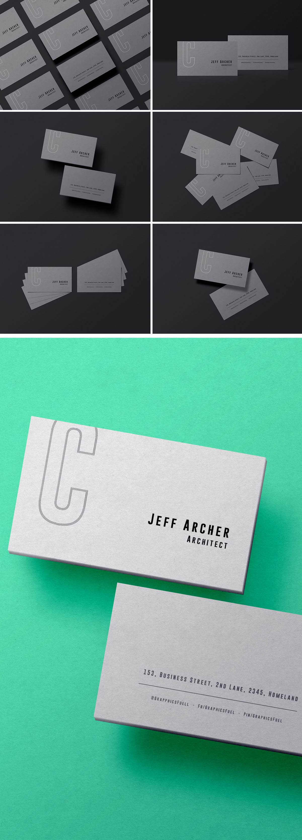 Business Card PSD Mockups Templates