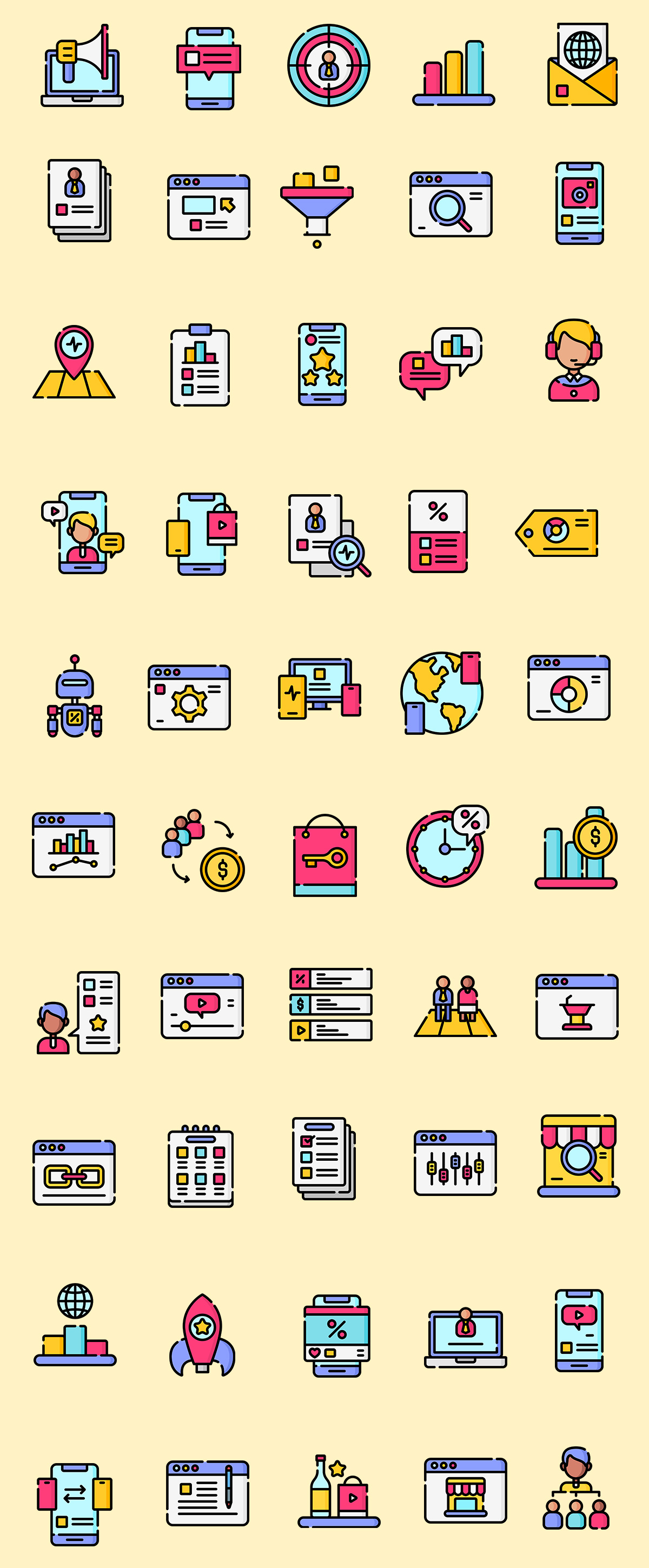 Online Marketing Icons