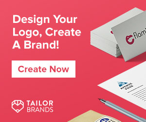 Ad Banner for Tailor Brands an Automated logo design and branding company