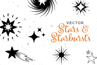 Hand-drawn Vector Stars And Starbursts
