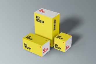 Product Boxes Mockup Set