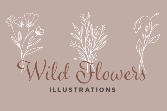 Wildflower Vector Illustrations