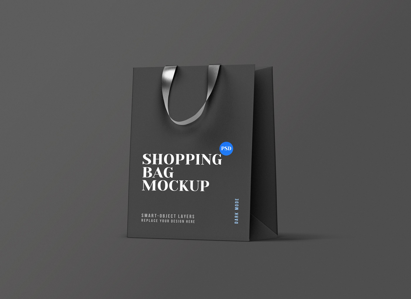 the best bag mockup to see the front and a bit of the side of the bag, which makes it a great choice to showcase your logos, artworks, badges, or texts. Shopping Bag Mockup