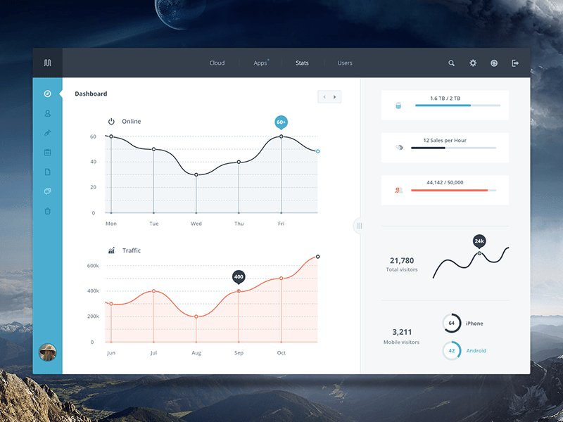 free-dashboard-template-psd-1