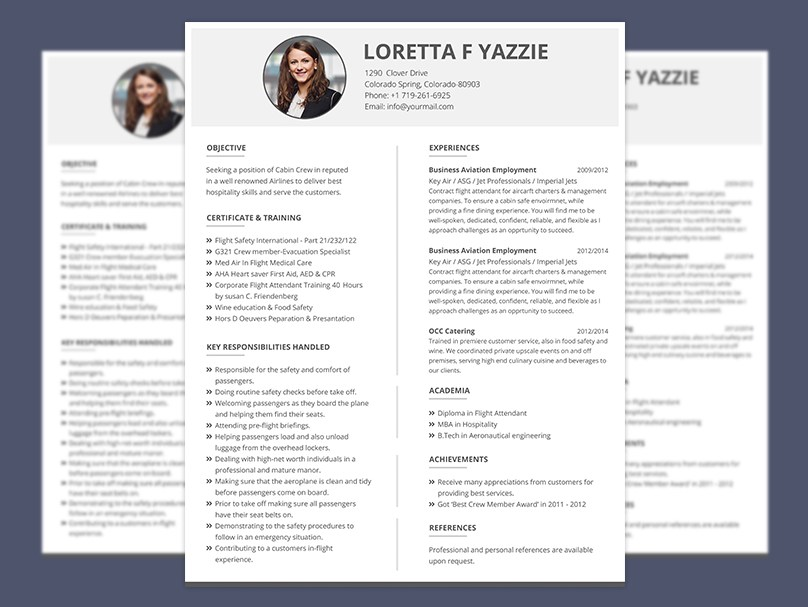 resume format for cabin crew freshers cv