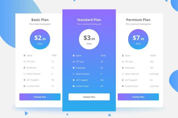 Free-Pricing-Table-Template