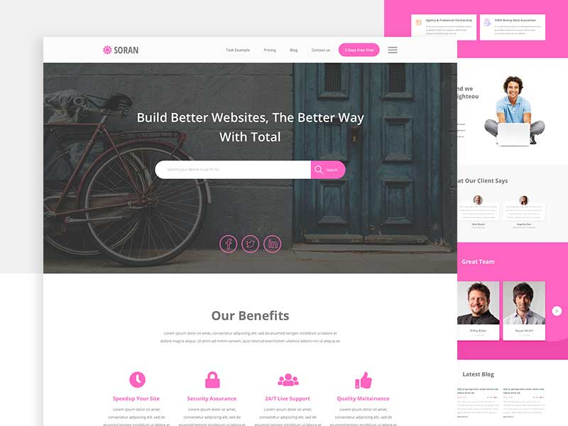 Corporate Website Templates Sketch Free Download - GraphicSlot