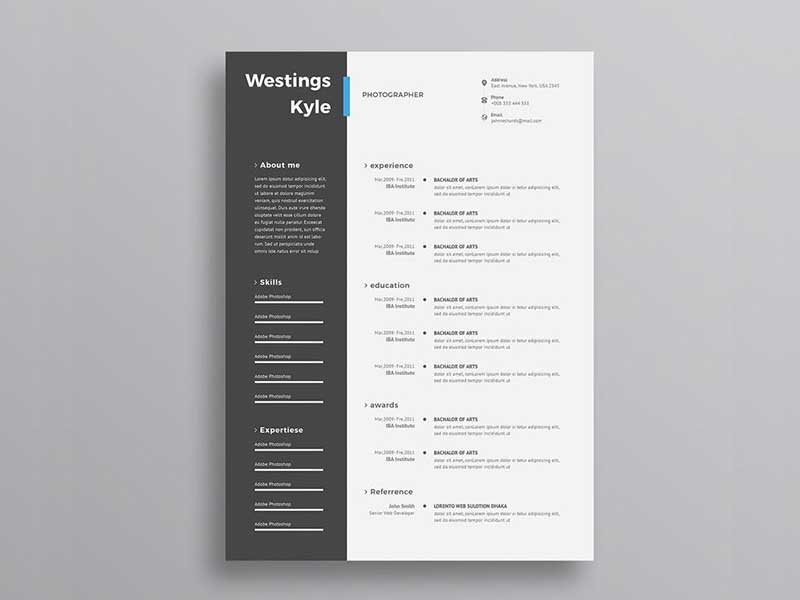 resume-template-psd-free-10