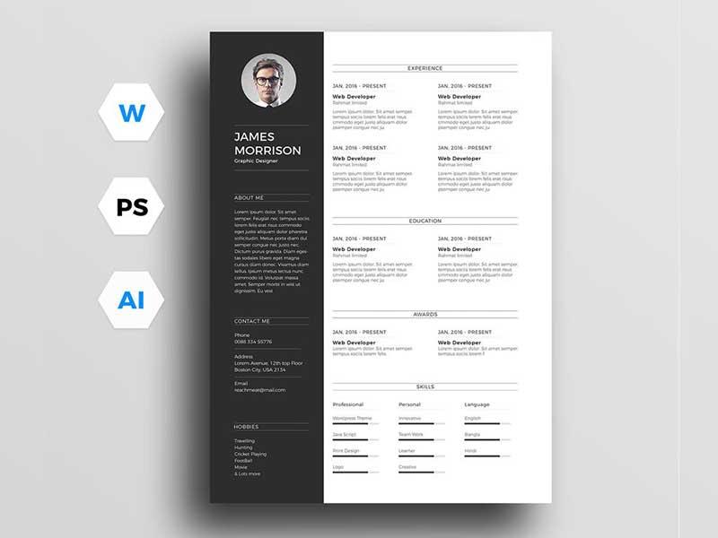 resume-template-psd-free-12