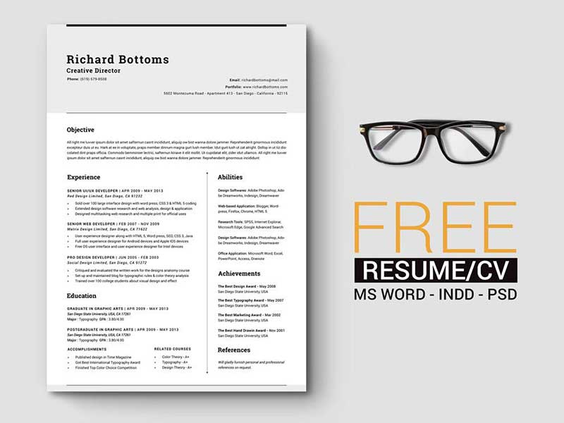 resume-template-psd-free-15