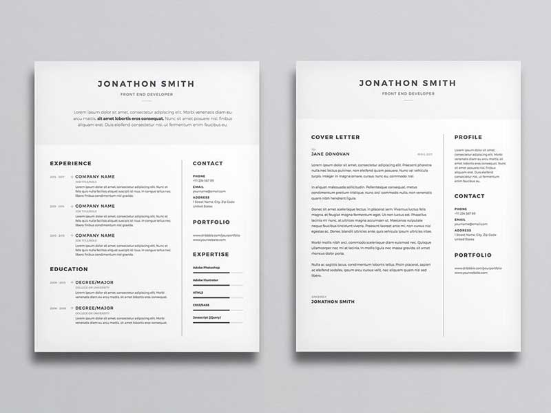 resume-template-psd-free-17 Template Cover Letter Job Free Black Elegant Resume Cv Design Ukzwbd on