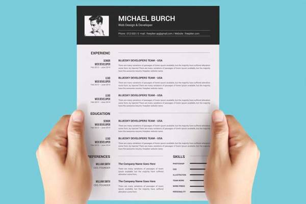 Minimal-Black-and-White-Resume