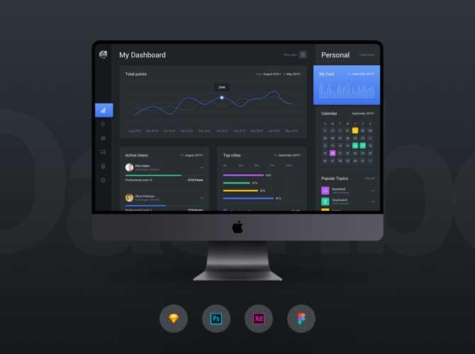 Web Dashboard & Statistics Template