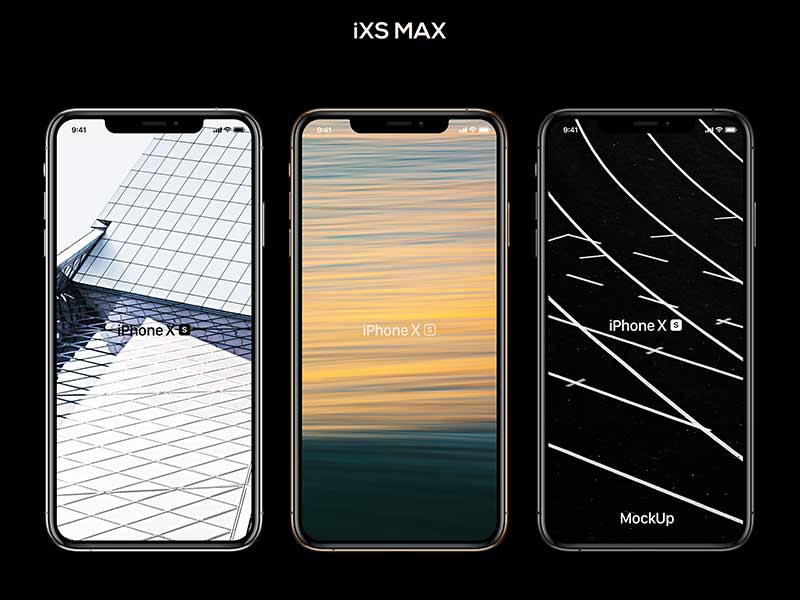 iPhone XS, XR, XS Max Free Mockup Bundle