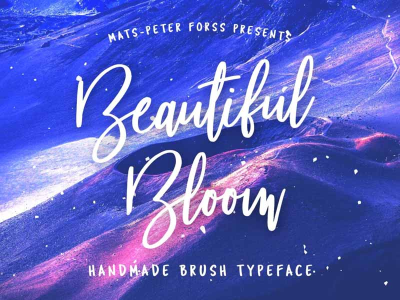 Beautiful Bloom - Free Brush Font