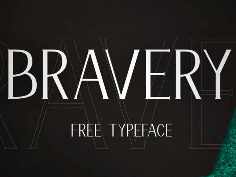 Bravery - Free Display Font
