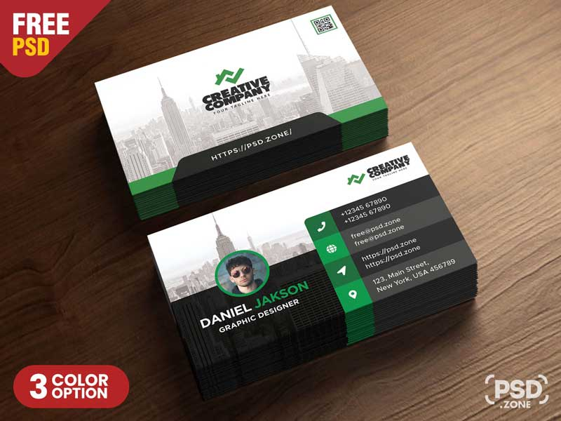 Business Card Design PSD Template