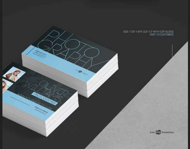 Free Photography Business Card PSD