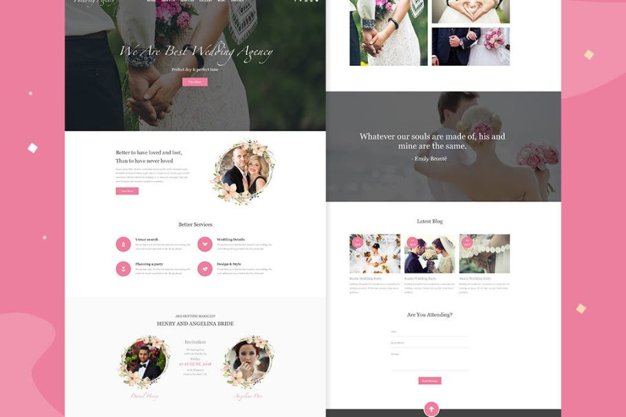 wedding-party-website-xd-file