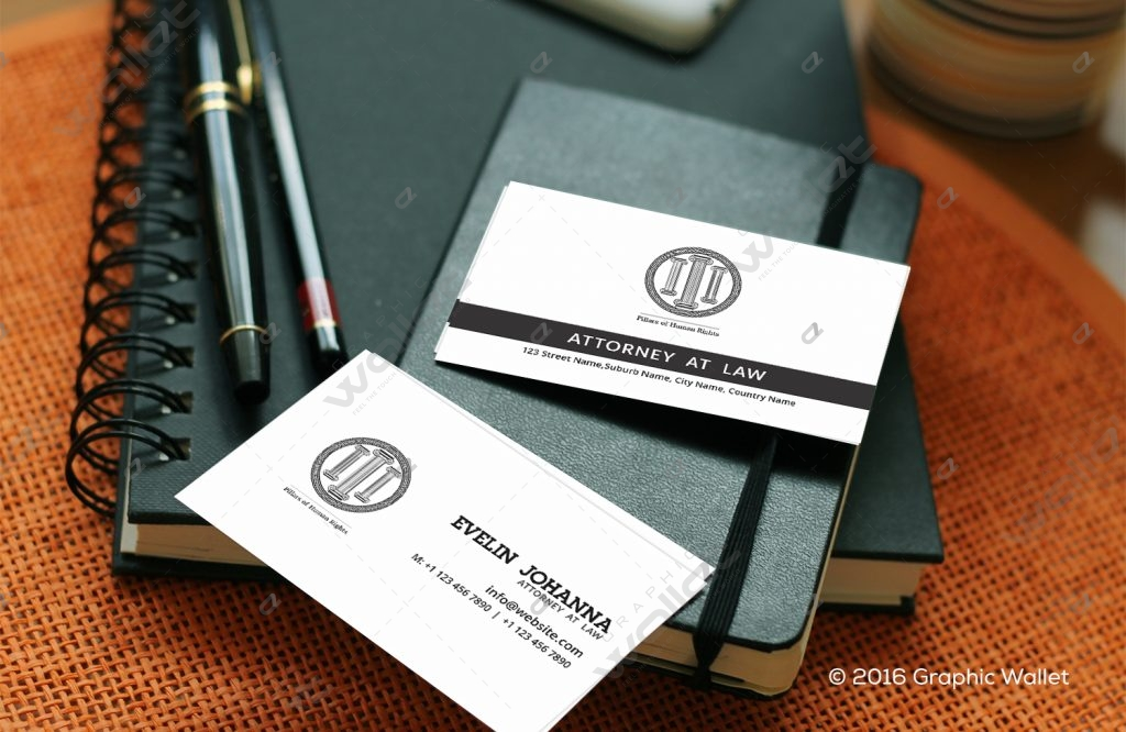 Pillars of Human Rights - Business Card   Graphic Wallet