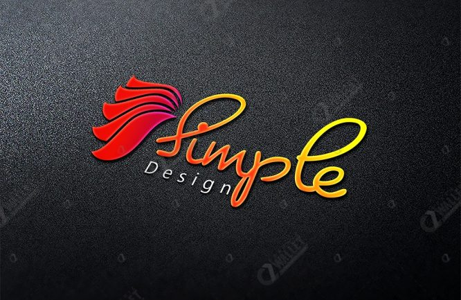 3D Logo MockUp – Simple Design