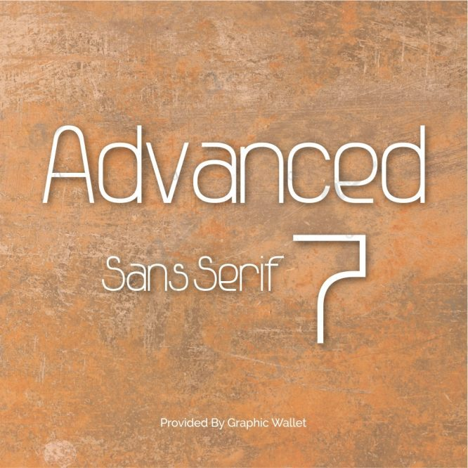 Advanced Sans Serif 7 Font