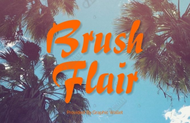 Brush Flair Font