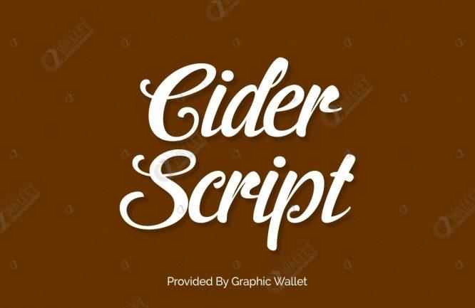 Cider script việt hóa ~ việt font.
