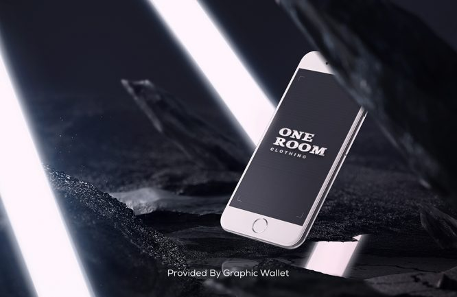 iPhone 6 PSD Mockup – ONE ROOM