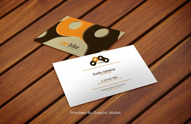Free Download Shiny Wood PSD Business Card Mockup