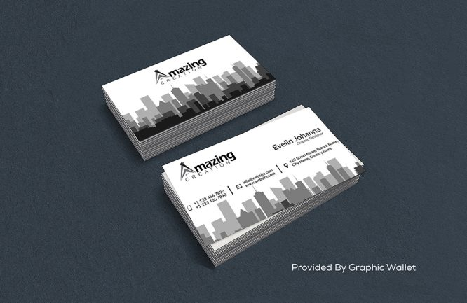 Free White Business Card template & Mockup PSD