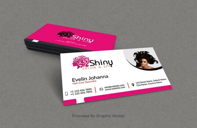 Salon And Spa Free PSD Business Card Mockup