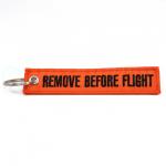 Portachiavi Remove Before Flight arancione