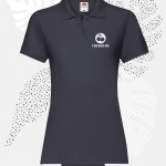polo donna fruit of the loom 63030 donna blu notte