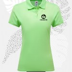 polo donna fruit of the loom 63030 donna neon menta